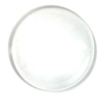 6 x 35mm round glass cabouchon with magnification